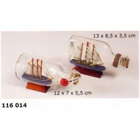 Maqueta naval en botella de artesanía náutica
