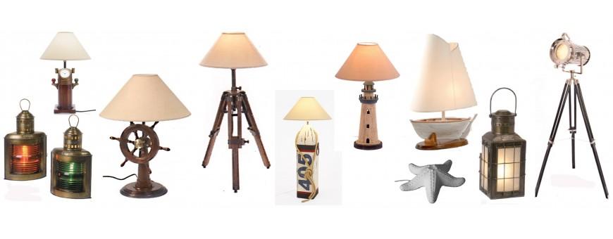 lámparas náuticas sobremesa y de pie