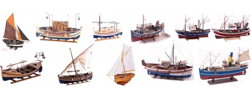 Maquetas decorativas barcos pesqueros: atuneros, langosteros, bisquine