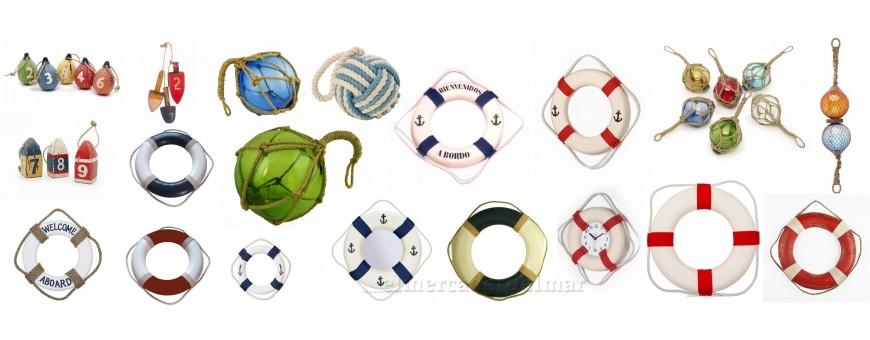 Boyas y salvavidas marineros decoración náutica y marinera comprar online