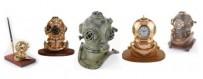 Escafandras y cascos de buzo para la decoración marinera