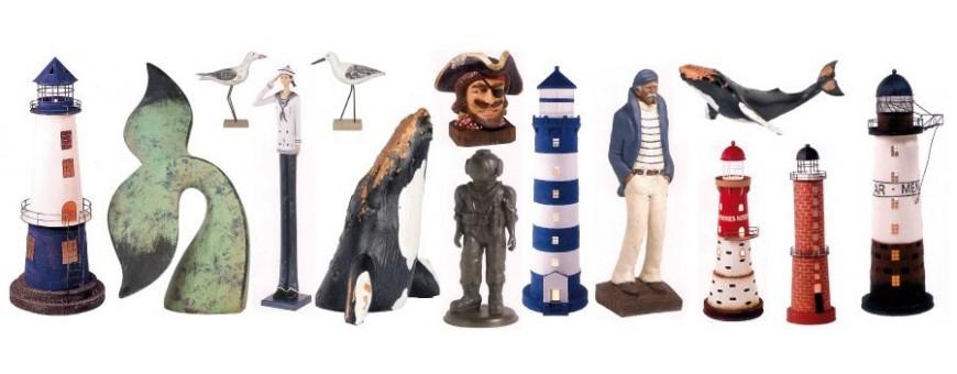 faros y figuras marineras reproducciones de faros y personajes marineros