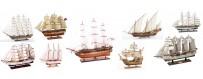 maquetas de veleros de época en miniatura de artesanía marinera