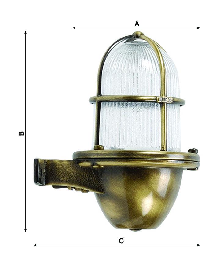 Lámpara latón decoración marinera