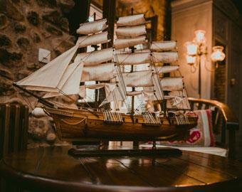 maquetas navales montadas